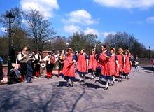 Morris-Tänzer an der Blists-Hügel-viktorianischen Stadt Stockfotografie
