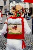Morris-Tänzerhut und -jacke stockbild