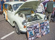 Morris Traveler. With wooden batons on show at Grantown on Spey Motor Mania held on 3rd September 2017 stock photography