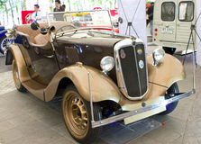 Morris 8 Vintage Car On Display. Royalty Free Stock Photo