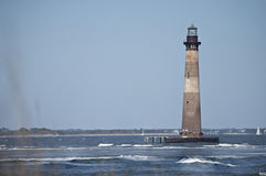 Morris wyspy latarnia morska blisko głupoty plaży sc obrazy royalty free