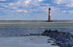 Morris wyspy latarnia morska Charleston Południowa Karolina Zdjęcia Stock