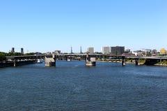 Morrison-Brücke Portland, Oregon Stockbild