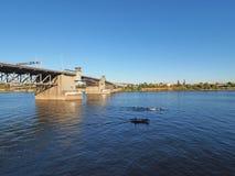 Morrison Bridge, Portland, Oregon. royalty free stock photos