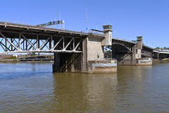 Morrison bridge Portland Oregon. Royalty Free Stock Photography