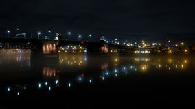 Morrison Bridge, Portland, Oregon, USA royalty free stock photography