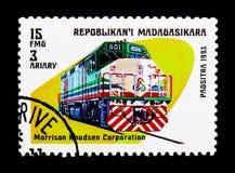 Morrison Knudsen Korporation drev, modern lokomotivserie, ci Arkivbild
