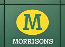 Morrison supermarket från Förenade kungariket i 1 December Arkivfoto