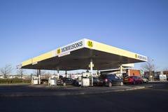 Morrisons加油站 库存照片