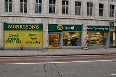 Morrisons lagercentral London Arkivfoton