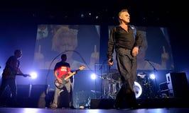 Morrissey, de beroemde tekstschrijver en de vocalist van de popgroep Smiths stock foto