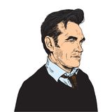 Morrissey Pop Art Portrait Vector Stockbilder