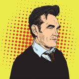 Morrissey Pop Art Portrait Vector. Comics Style Poster Stock Images