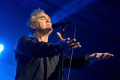 Morrissey (zanger van Smiths) presteert in Sant Jordi Club royalty-vrije stock afbeeldingen