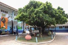 Morro印地安考古学站点重创在里约热内卢 免版税图库摄影