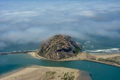 Morro Bay aerial photo Royalty Free Stock Photos