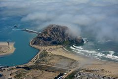 Morro Bay aerial photo Stock Photos