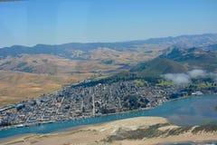 Morro Bay, California aerial scenic royalty free stock photos