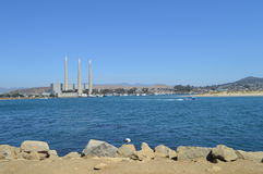 Morro Bay, California Desalination Plant and Duck Royalty Free Stock Photo
