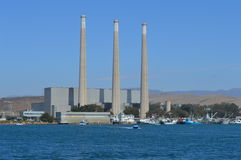Morro Bay, California Desalination Plant. Morro Bay, California with Desalination Plant with watercraft Royalty Free Stock Image