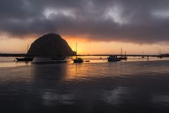 Morro Bay Dusk Royalty Free Stock Photos