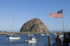 Morro Bay Harbor, California Stock Images