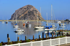 Morro Bay Harbor and The Rock, California Stock Image