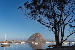 Morro Bay Rock in the morning sun Royalty Free Stock Image
