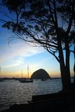 Morro Bay Sunset. Sunset in Morro Bay along central California coast Royalty Free Stock Images