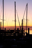 Morro Bay Sunset Stock Photography
