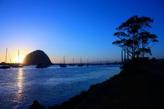 Morro Bay at Sunset Royalty Free Stock Photos