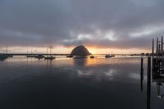 Morro Bay Sunset Royalty Free Stock Photo