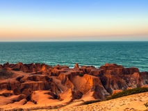 Morro Branco beach. Sea cliffs of Morro Branco - Ceara -  Fortaleza - Brazil Stock Images