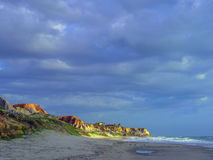 Morro Branco beach. Sea cliffs of Morro Branco - Ceara -  Fortaleza - Brazil Royalty Free Stock Photos