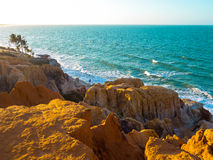 Morro Branco beach. Sea cliffs of Morro Branco - Ceara -  Fortaleza - Brazil Stock Photos