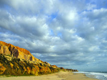 Morro Branco beach. Sea cliffs of Morro Branco - Ceara - Fortaleza - Brazil Royalty Free Stock Photo