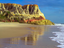 Morro Branco beach. Sea cliffs of Morro Branco - Ceara -  Fortaleza - Brazil Stock Image