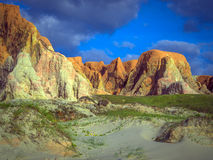 Morro Branco beach. Sea cliffs of Morro Branco - Ceara -  Fortaleza - Brazil Stock Photography