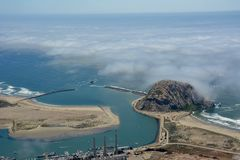 Morro-Bucht-Antennenfoto Lizenzfreie Stockfotos