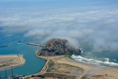 Morro-Bucht-Antennenfoto Stockfoto
