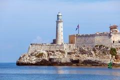 Morro Castle, fortress guarding the entrance to Havana bay, Cuba Royalty Free Stock Photos