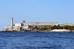 Morro Castle Havana. Morro Castle guards  the entrance to Havana, Cuba.  It was built by the Spanish in 1589 Royalty Free Stock Image