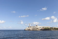 Morro Castle, Havana. Morro Castle and lighthouse in Havana Bay Royalty Free Stock Photo