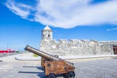 Morro castle in Havana, Cuba. HAVANA , CUBA - JULY 18 : The Morro castle in Havana, Cuba on July 18 2016. The castle was built by the Spaniards in the years 1589 Royalty Free Stock Photos