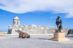 Morro castle in Havana, Cuba. HAVANA , CUBA - JULY 18 : The Morro castle in Havana, Cuba on July 18 2016. The castle was built by the Spaniards in the years 1589 Stock Photo