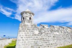 Morro castle in Havana, Cuba. HAVANA , CUBA - JULY 18 : The Morro castle in Havana, Cuba on July 18 2016. The castle was built by the Spaniards in the years 1589 Royalty Free Stock Photography