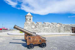 Morro castle in Havana, Cuba. HAVANA , CUBA - JULY 18 : The Morro castle in Havana, Cuba on July 18 2016. The castle was built by the Spaniards in the years 1589 Royalty Free Stock Images