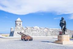 Morro castle in Havana, Cuba. HAVANA , CUBA - JULY 18 : The Morro castle in Havana, Cuba on July 18 2016. The castle was built by the Spaniards in the years 1589 Stock Image