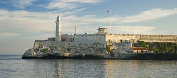 Morro castle in Havana harbor Stock Photography