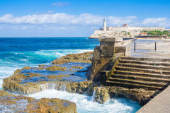 The Morro Castle in Havana royalty free stock photography
